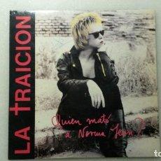 Discos de vinilo: DISCO SINGLE HARD CORE LA TRAICION. QUIEN MATÓ A NORMA JEAN. Lote 110168715