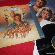 Discos de vinilo: MAD MAX BSO OST TINA TURNER LP 1985 CAPITOL GATEFOLD EDICION FRANCE FRANCIA + POSTER. Lote 110184275