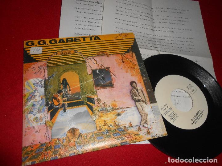 G.G GABETTA YA NO PIERDO MAS TIEMPO/+1 7'' SINGLE 1989 GBBS PROMO EDICION ESPAÑOLA SPAIN+HOJAS PROMO (Música - Discos - Singles Vinilo - Grupos y Solistas de latinoamérica)