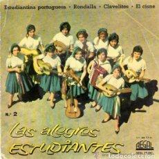 Discos de vinilo: LAS ALEGRES ESTUDIANTES - ESTUDIANTINA PORTUGUESA + 3 - EP REGAL 1961 - (SOLO PORTADA). Lote 110208235