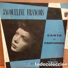 Discos de vinilo: JACQUELINE FRANÇOIS. CANTA SUS CANCIONES. LP 10 PULGADAS. PHILIPS SPAIN 1959 . Lote 110208955