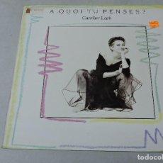 Discos de vinilo: CAROLINE LOEB - A QUOI TU PENSES 12'' SPAIN 1987. Lote 110213075
