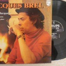 Disques de vinyle: JACQUES BREL N.1 GRAND JACQUES LP VINYL MADE IN FRANCE. Lote 110225071
