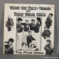 Discos de vinilo: MAXI VINILO. POINT BLACK MC´S - THE FIRST CLASS. RAP / HIPHOP CANADA (BRD). Lote 110225351