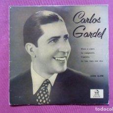 Discos de vinilo: CARLOS GARDEL.ODEON.1957 . TANGOS (4) PERFECTO ESTADO.. Lote 110227923