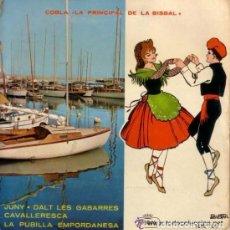 Discos de vinilo: COBLA LA PRINCIPAL DE LA BISBAL - JUNY, DALT LES GABARRES, ETC - EP REGAL 1958 . Lote 110241179