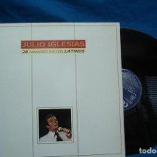 Discos de vinilo: JULIO IGLESIAS - 28 GRANDES ÉXITOS LATINOS - 1989. Lote 110253599