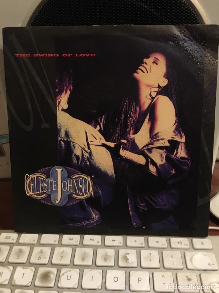 CELESTE JOHNSON-THE SWING OF LOVE-1991-NUEVO-CON TROQUEL PROMOCIONAL (Música - Discos - Singles Vinilo - Disco y Dance)