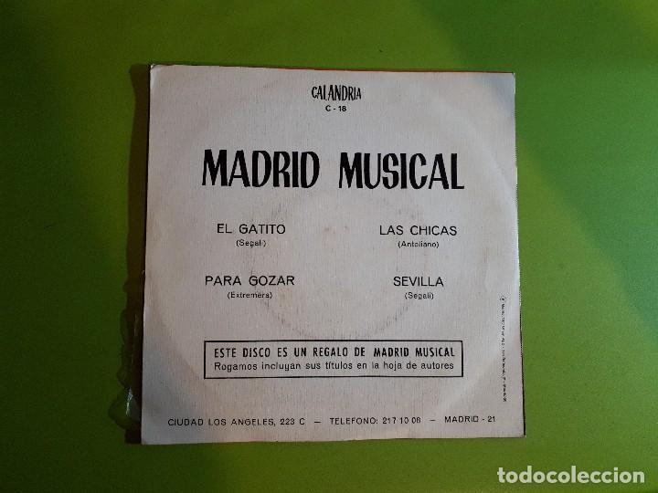 Discos de vinilo: MADRID MUSICAL - EL GATITO +3 - COMPRA MÍNIMA 3 EUROS - Foto 2 - 110263479