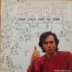 Discos de vinilo: JOAN MANUEL SERRAT, CADA LOCO CON SU TEMA. LP PORTADA ABIERTA CON FUNDA INTERIOR CON LETRAS.. Lote 110273975