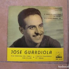 Discos de vinilo: JOSE GUARDIOLA - ELS MINYONS DEL PIRIEU - LA VOZ DE SU AMO 1960 - SINGLE - P -. Lote 110290003