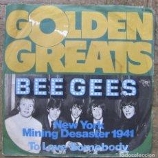 Discos de vinilo: BEE GEES. NEW YORK MINING DISASTER. RSO 23135 103, 1967 GERMANY. FUNDA VG++. DISCO EX.. Lote 110305511