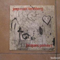 Discos de vinilo: JEAN MARC TENNBERG - JACQUES PREVERT - ODEON - SINGLE - P. Lote 110306791