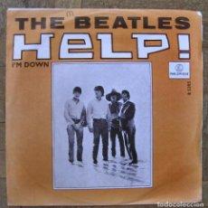Discos de vinilo: BEATLES. HELP; I'M DOWN. PARLOPHONE R 5305, HOLANDA, 1965. FUNDA VG++. DISCO VG++. Lote 110307071