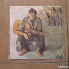 Discos de vinilo: JOAN MANUEL SERRAT – CANCÓ DE MATINADA - EDIGSA 1966 - SINGLE - P. Lote 110320539