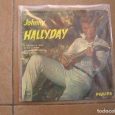 Discos de vinilo: JOHNNY HALLYDAY – NOUS QUAND ON S'EMBRASSE - PHILIPS 1962 - SINGLE - P. Lote 110335579