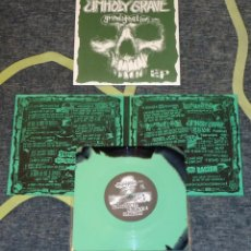 Discos de vinilo: UNHOLY GRAVE - GRINDIGNATION EP - UNSHAPED 7'' [DEATH AGONIES AND SCREAMS, 2009 · LIM. 100]. Lote 110416003