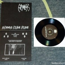 Discos de vinilo: AMOFAS - BLOOD LIKE FIRE - 7'' [CINEREOUS, 2012]. Lote 110416507