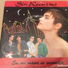 Discos de vinilo: SIN RECURSOS. EN MI MANO SE ESCONDIO. EMI-ODEON 1991. DISCO PROMOCIONAL . Lote 110417487