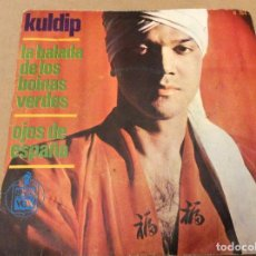 Discos de vinilo: KULDIP. LA BALADA DE LOS BOINAS VERDES. OJOS DE ESPAÑA. HISPAVOX 1966.. Lote 110419187