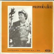 Discos de vinilo: MANOLO DIAZ - POSTGUERRA, VINI UNA OLA, BIBI - EP 1ª EDICIÓN - SONO PLAY SBP-10.058 - 1967. Lote 110422227