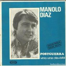 Discos de vinilo: MANOLO DIAZ - POSTGUERRA, VINI UNA OLA, BIBI - EP 2ª EDICIÓN - SONO PLAY SBP-10.058 - 1967. Lote 110422263