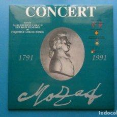 Discos de vinilo: CONCERT MOZART. 2 LP.AGRUP. CORALS BAIX PENEDES.ORQUESTRA CAMBRA DE L'EMPORDA.VENDRELL 1991. A SOLE. Lote 110454991