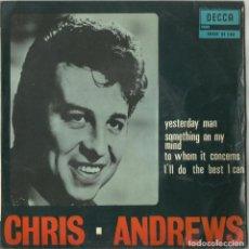 Discos de vinilo: CRIS ANDREWS - YESTERDAY MAN + 3 - EP - DECCA 1967 - SDGE 81 130 ED.ESPAÑOLA. Lote 110456555
