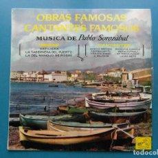 Discos de vinilo: OBRAS FAMOSAS Y CANTANTES FAMOSOS. LP. PABLO SOLOZABAL. KATIUSKA. LA TABERNERA DEL PUERTO. 1965. Lote 110456647