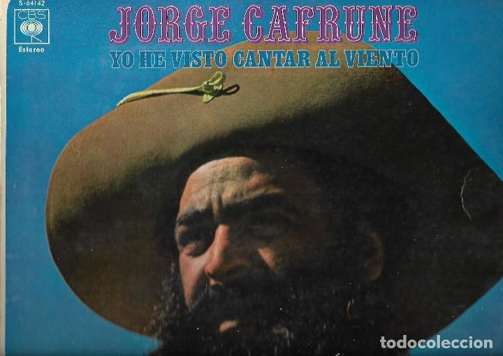 VINILO JORGE CAFRUNE (Música - Discos de Vinilo - Maxi Singles - Pop - Rock Internacional de los 90 a la actualidad)