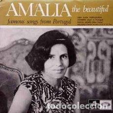 Discos de vinilo: AMALIA RODRIGUES THE BEAUTIFUL : UMA CASA PORTUGUESA, COIMBRA +2 ED. PORTUGAL. Lote 110527571