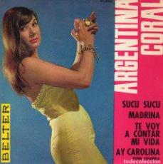 Discos de vinilo: ARGENTINA CORAL, EP, EL SUCU SUCU + 3, AÑO 1963. Lote 110528243