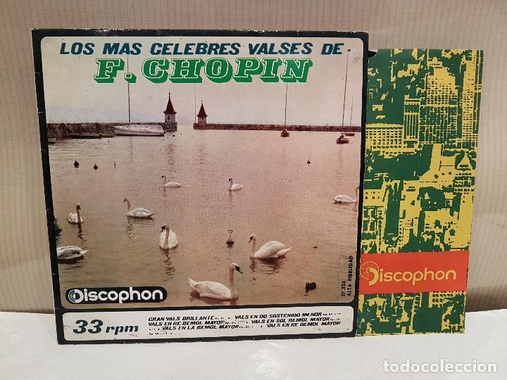 LOS MAS CELEBRES VALSES DE CHOPIN MUY BUEN ESTADO VER FOTOS (Música - Discos - Singles Vinilo - Clásica, Ópera, Zarzuela y Marchas)