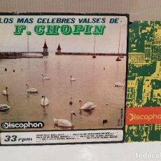 Discos de vinilo: LOS MAS CELEBRES VALSES DE CHOPIN MUY BUEN ESTADO VER FOTOS. Lote 110529115