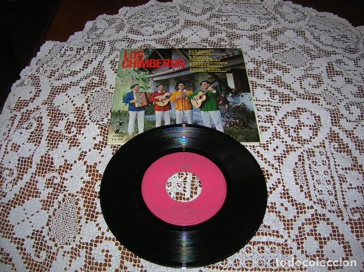 DISCO LOS CHIMBEROS .FOLKLORE ESPAÑOL (Música - Discos - LP Vinilo - Grupos Españoles 50 y 60)