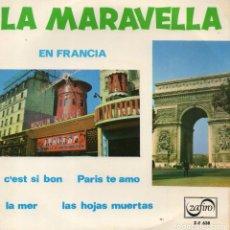 Discos de vinilo: ORQUESTA MARAVELLA - EN FRANCIA -, EP, C´EST SI BON + 3, AÑO 1965. Lote 110531403