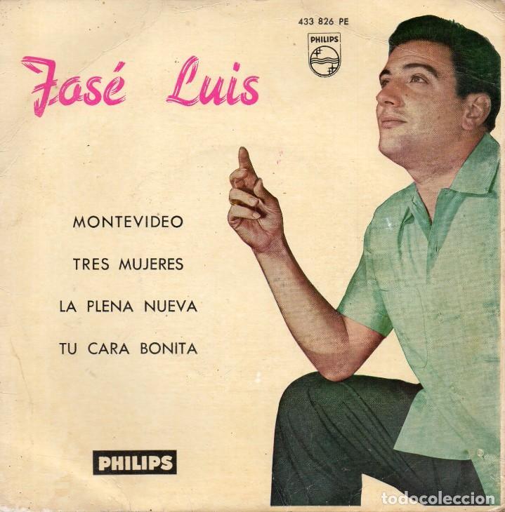 JOSE LUIS, EP, MONTEVIDEO + 3, AÑO 1962 (Música - Discos de Vinilo - EPs - Solistas Españoles de los 50 y 60)