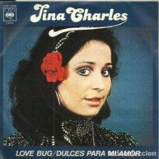 Discos de vinilo: TINA CHARLES. SINGLE. SELLO CBS. EDITADO EN ESPAÑA. AÑO 1977. Lote 110538807