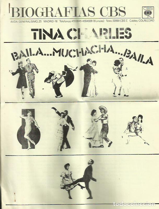Discos de vinilo: TINA CHARLES. SINGLE. SELLO CBS. EDITADO EN ESPAÑA. AÑO 1976 - Foto 2 - 110539143