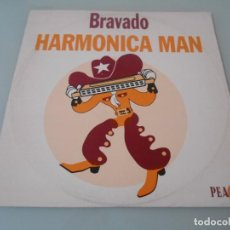 Discos de vinilo: BRAVADO HARMONICA MAN - MAXI SINGLE 1994 - MADE IN ENGLAND LEA DENTRO TEMAS. Lote 110554679