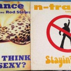 Discos de vinilo: LOTE 2 MAXI SINGLE DISCO VINILO N TRANCE DA YA THINK I´M SEXY + STAYIN ALIVE. Lote 110567159