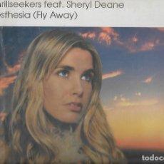 Discos de vinilo: LP VINILO THE THRILLSEEKERS FEAT FLY AWAY. Lote 110568395