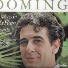 Discos de vinilo: LP VINILO PLACIDO DOMINGO - ALWAYS IN MY HEART - SPAIN LP CBS 1984 - ERNESTO LECUONA. Lote 110577979