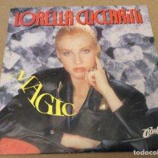 Discos de vinilo: LORELLA CUCCARINI. MAGIC. CLASH 1990. ITALO DISCO. SINGLE PROMOCIONAL. . Lote 110594583