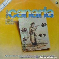 Discos de vinilo: TIERRA CANARIA 6.FOLKLORE.ROQUE NUBLO.LOS ARRIEROS.SEBASTIAN RAMOS.TRIO ALTAGAY. CANARIAS. Lote 110621171