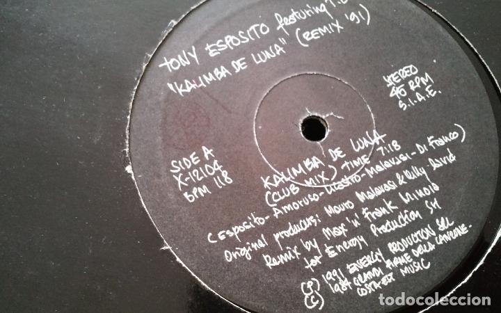 Discos de vinilo: tony esposito-kalimba de luna remix 91.maxi italia - Foto 2 - 110637623