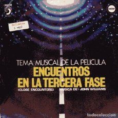 Discos de vinilo: ENCUENTROS EN LA TERCERA FASE (BSO) THE OTHER SIDE / THE VISITORS (SINGLE 1978). Lote 110654127