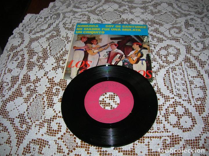 DISCO LOS CHIMBEROS ,CUATRO CANCIONES ,AÑOS 60 (Música - Discos de Vinilo - Maxi Singles - Cantautores Españoles)