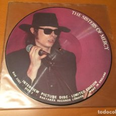 Discos de vinilo: THE SISTERS OF MERCY – LIMITED EDITION INTERVIEW PICTURE DISC. Lote 110666179