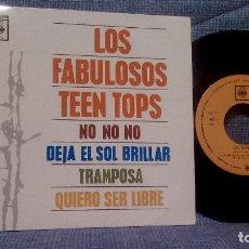 Discos de vinilo: LOS TEEN TOPS - NO NO NO + 3 CBS AGS 20.098 - EP ED. ESPAÑOLA DE 1963. Lote 110668035
